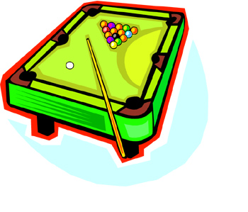 Pool Table Clipart. billiards table clipart