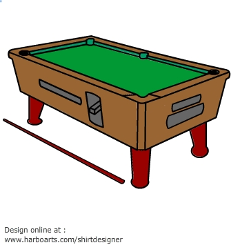 Pool table - Vector Graphic - Pool Table Clipart