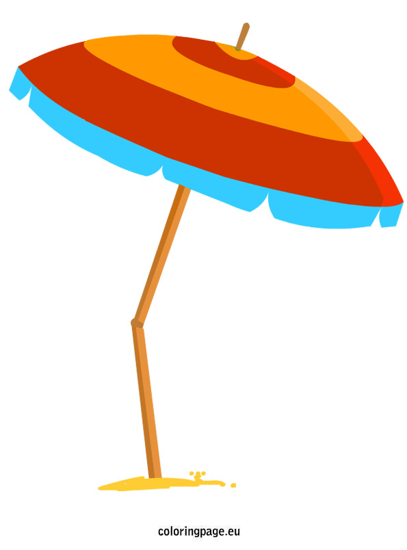 ... Pool Umbrella Clipart; Beach Umbrella | Coloring Page ...