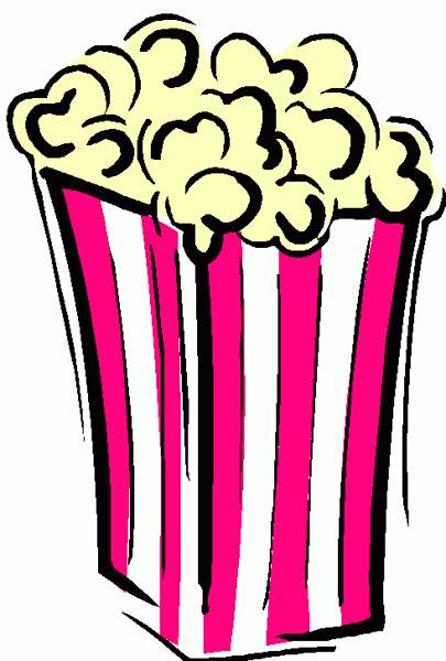 Popcorn and movie clipart free .