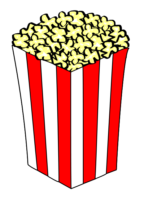 Popcorn Clip Art Black And White Free Cl-Popcorn clip art black and white free clipart images-12