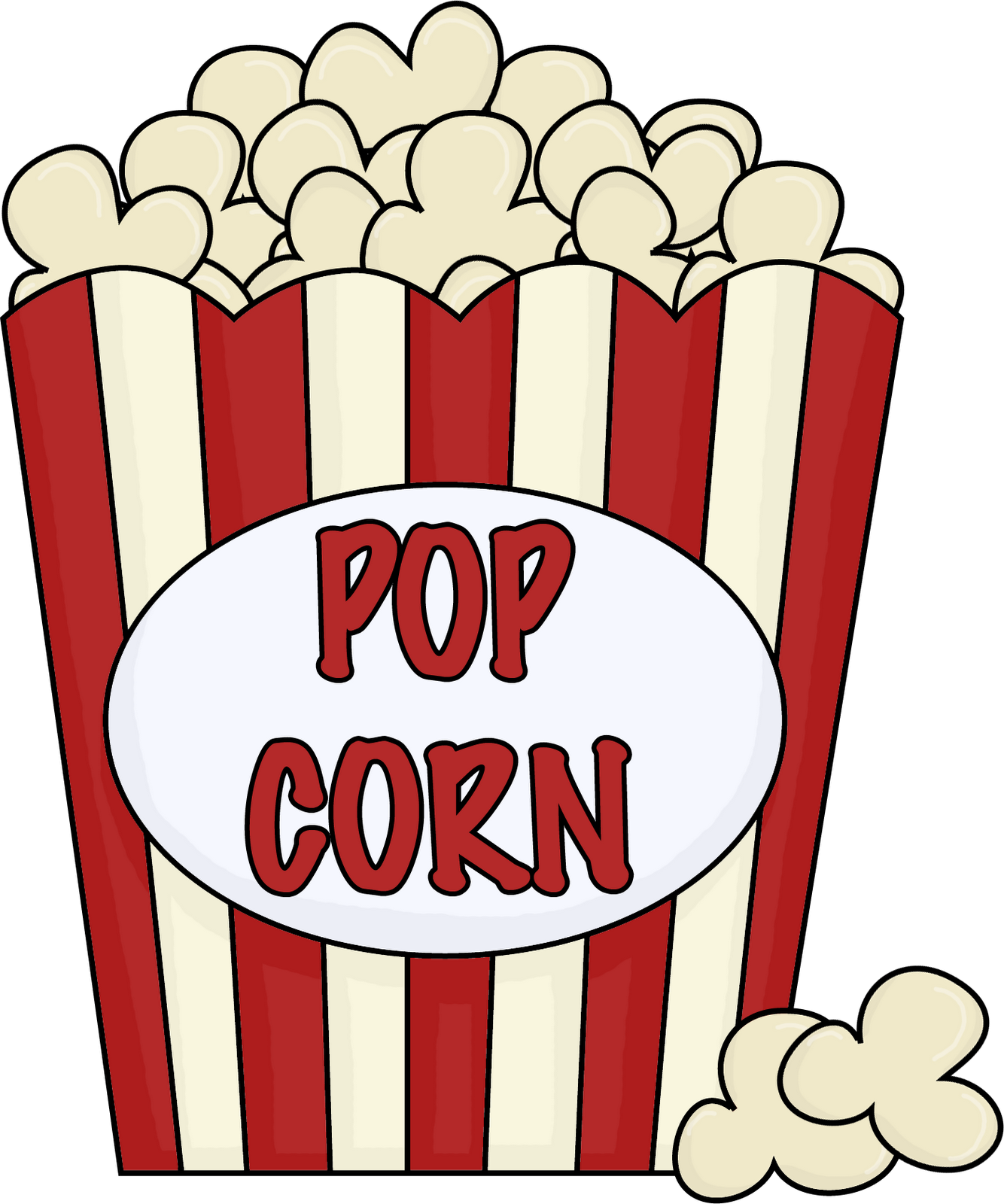 Popcorn Clip Art Black And White Outline-Popcorn clip art black and white outline free-12