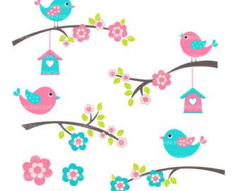 Popular items for bird clip art on Etsy