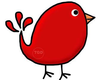Popular items for bird clip a - Red Bird Clipart