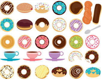 Popular items for doughnuts c - Donut Clipart Free