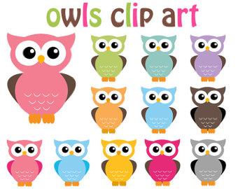 Popular Items For Owls Clip Art On Etsy-Popular items for owls clip art on Etsy-16
