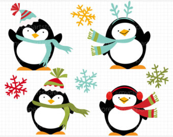 Popular items for penguin clip art on Etsy