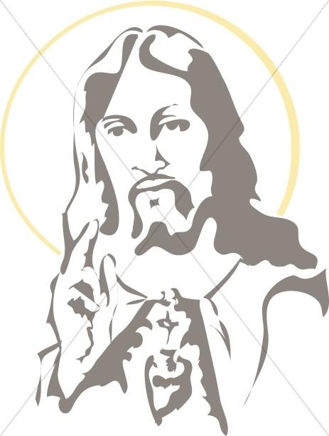 Portrait of Jesus with halo-Portrait of Jesus with halo-15