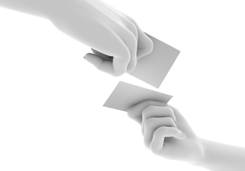 Pose Of The Hand Exchange Business Cards-Pose Of The Hand Exchange Business Cards Free Illustration-12