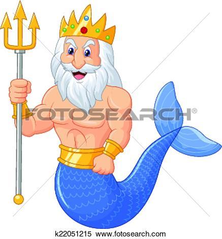 Poseidon cartoon