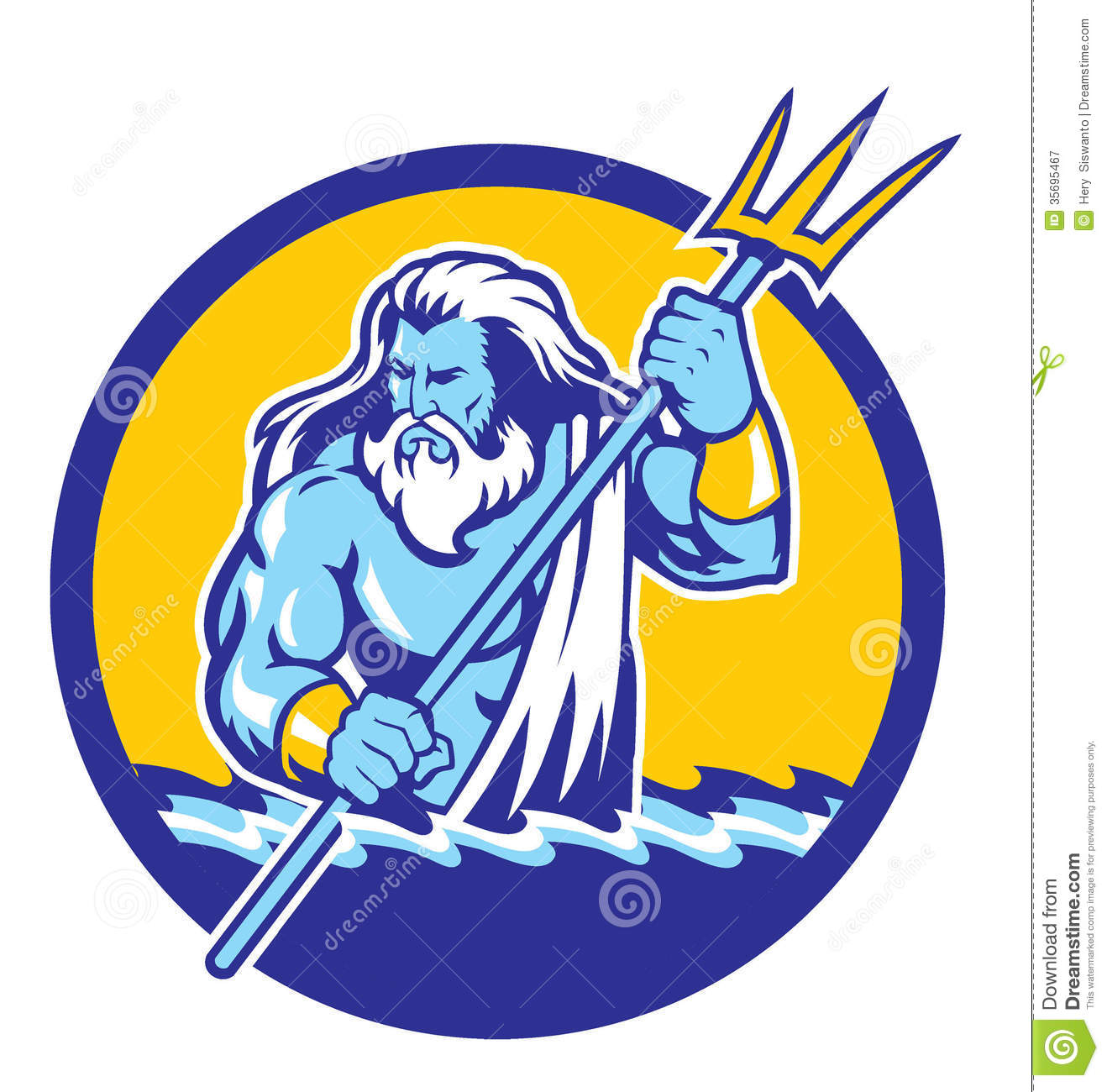 Poseidon Royalty Free Stock Photography