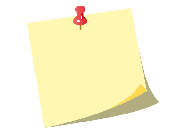 post it notes clipart