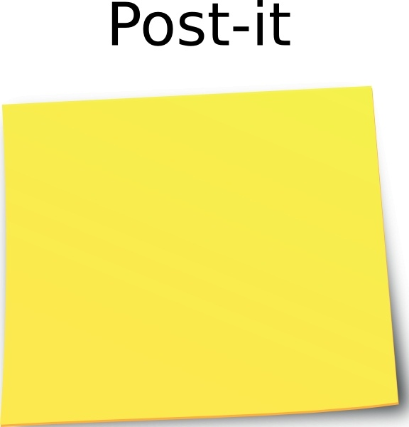 Post It Note clip art