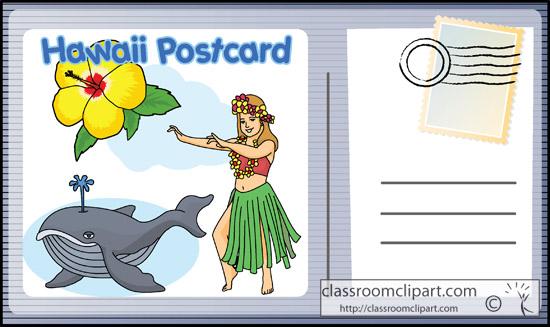 Postcard Clipart Classroom Clipart