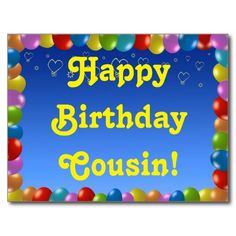 Postcard Happy Birthday Cousin-Postcard Happy Birthday Cousin-17