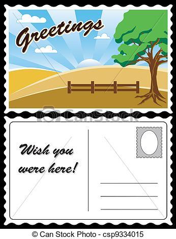 Postcard Stock Illustration .
