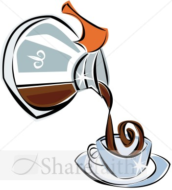 Pot Of Decaf Coffee Coffee Ho - Coffee Pot Clipart