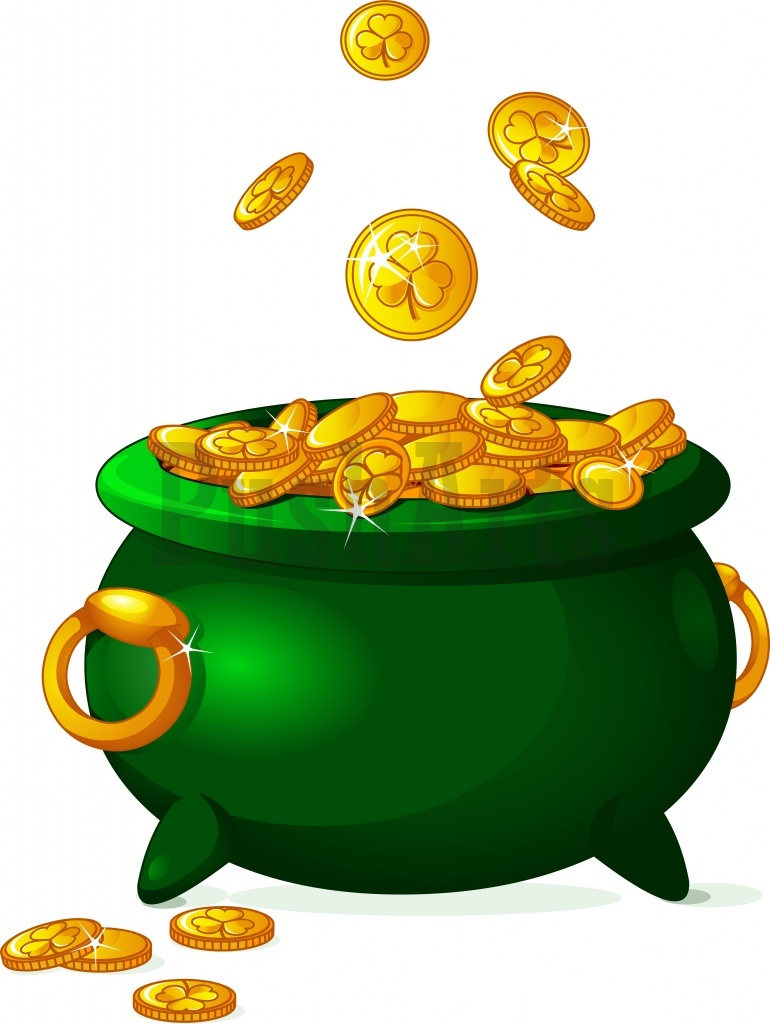 Pot Of Gold Clipart Cliparts Co