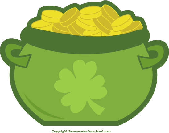 Pot of gold free irish clipart