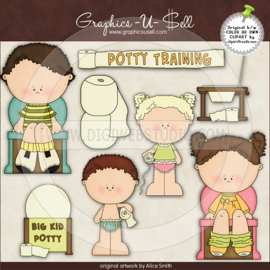 Potty Training 1 Whimsical Clip Art By A-Potty Training 1 Whimsical Clip Art By Alice Smith Digi Web Studio-10