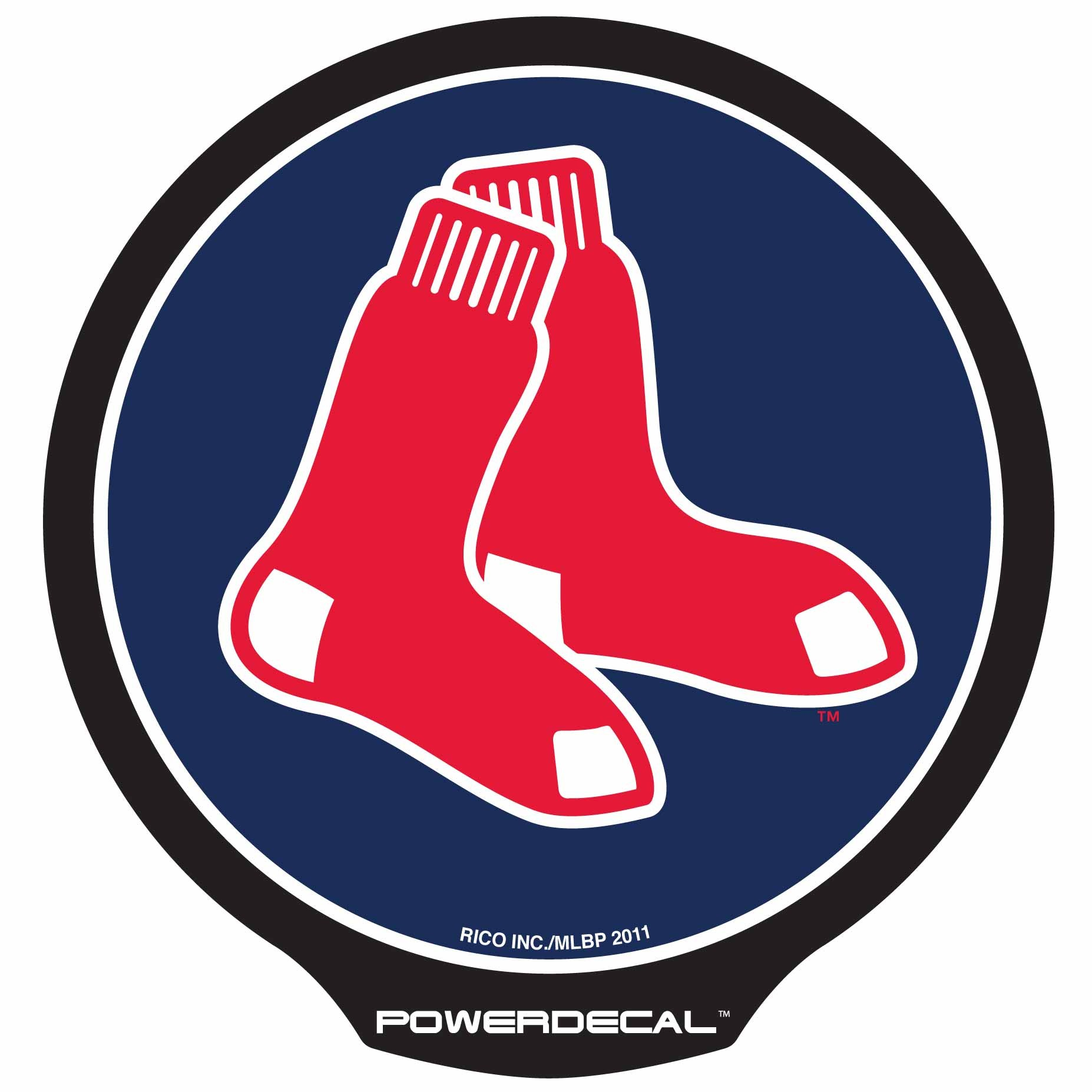 Power Decal Lighted - Boston  - Red Sox Clip Art