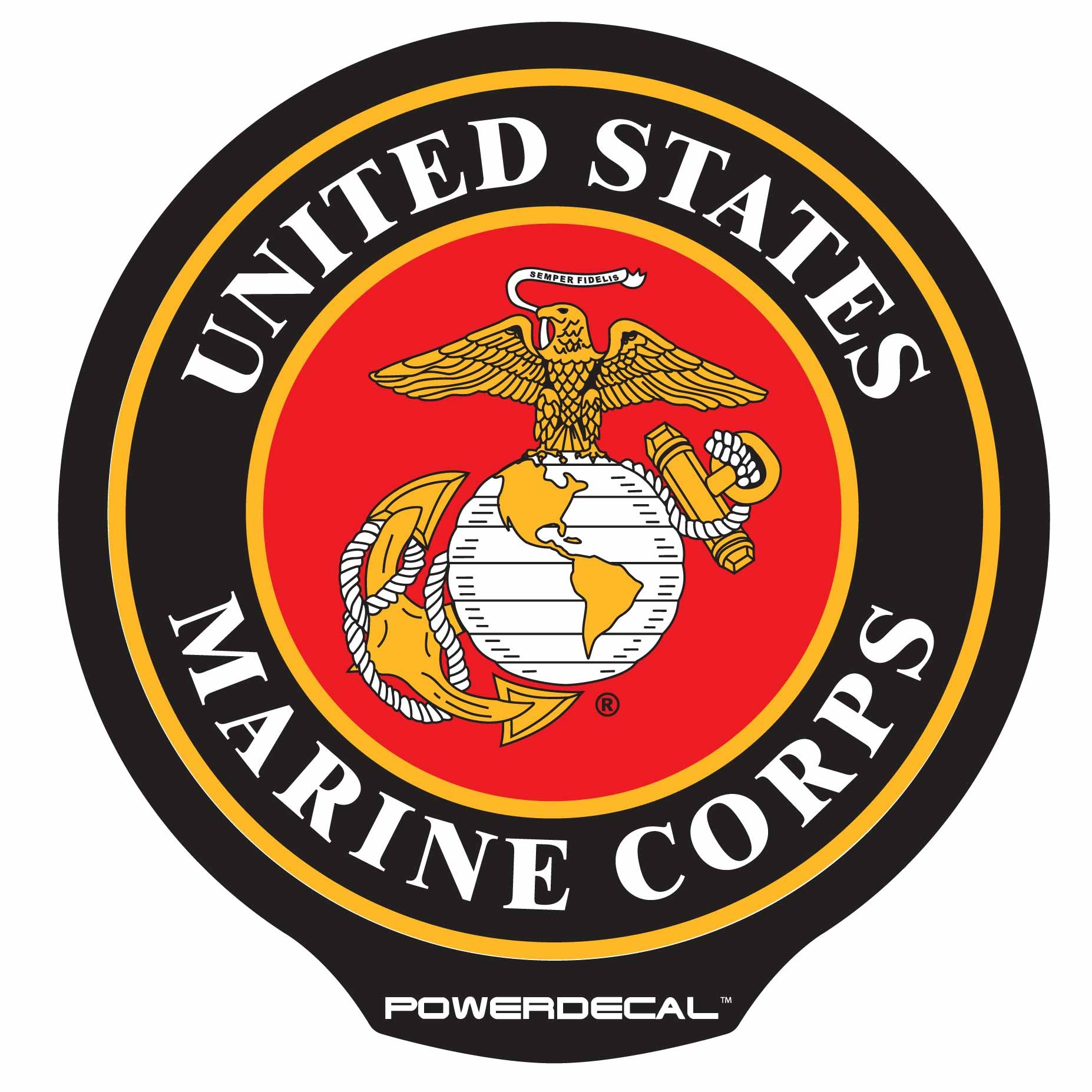 Power Decal Lighted Marines Logo; Navy Marine Corps ...