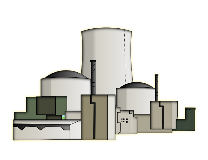 Power Plant Clipart Nuclear P - Power Plant Clipart