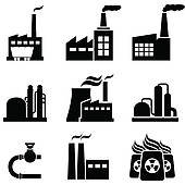 Power plants, factories and industrial buildings