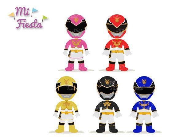 Power Rangers Megaforce Inspired Set Pin-Power Rangers Megaforce Inspired set Pink, Red, Yellow, Black and Blue  Clipart birthdays-13