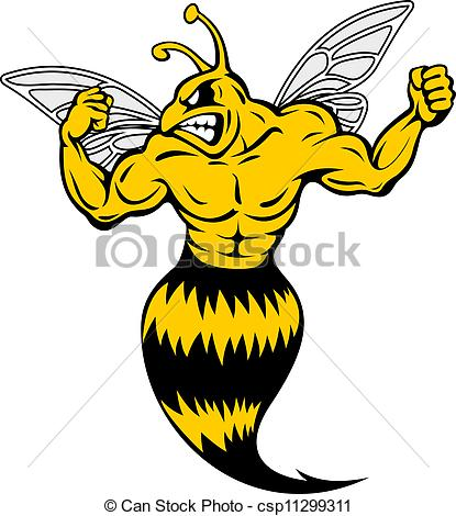 ... Powerful and danger yellow jacket in mascot style