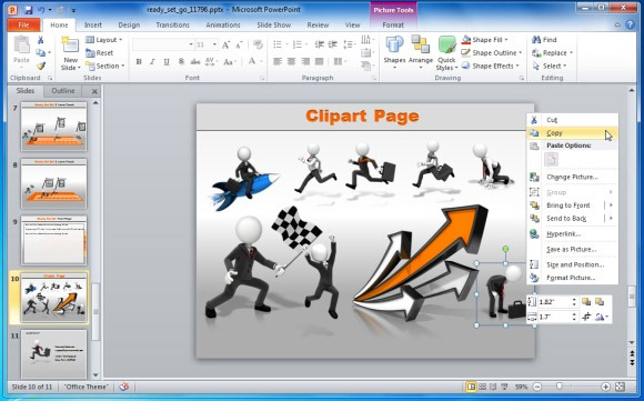 Powerpoint Presentations With Ready Set Go Template Powerpoint