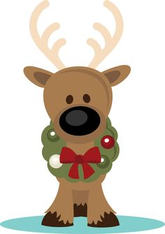PPbN Designs - Reindeer with  - Cute Reindeer Clipart