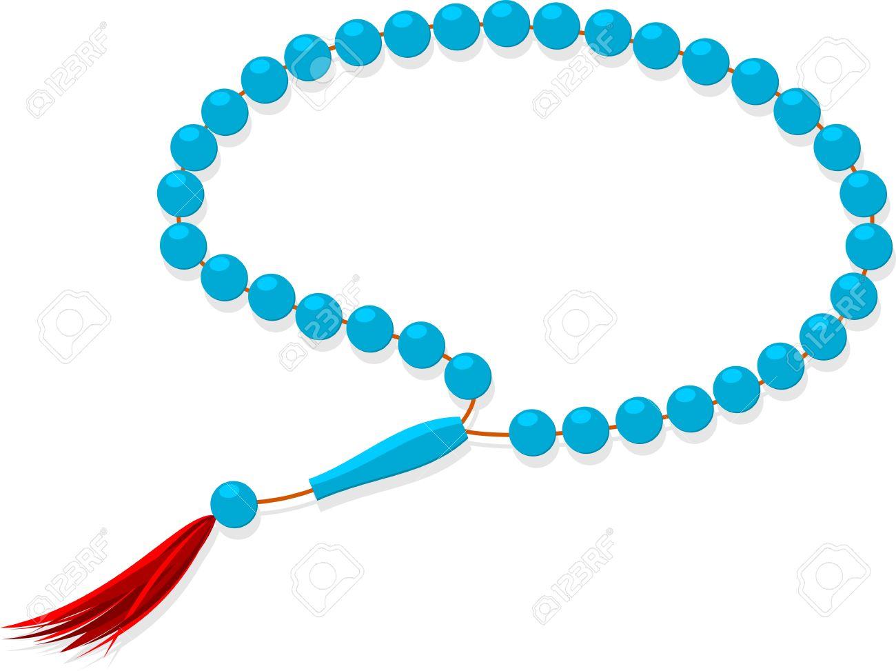 Prayer beads rosary clipart