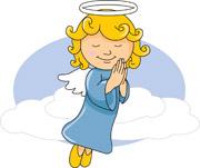 praying angel. Size: 78 Kb