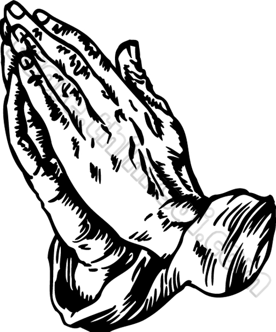 Praying hands clipart 4