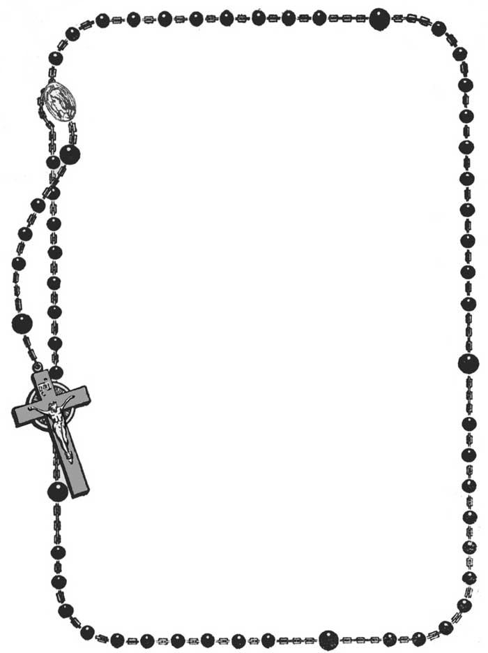 Praying The Rosary Clipart Image-Praying the rosary clipart image-8
