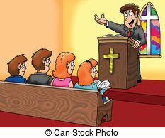 ... preacher - a pastor preaching to his flock