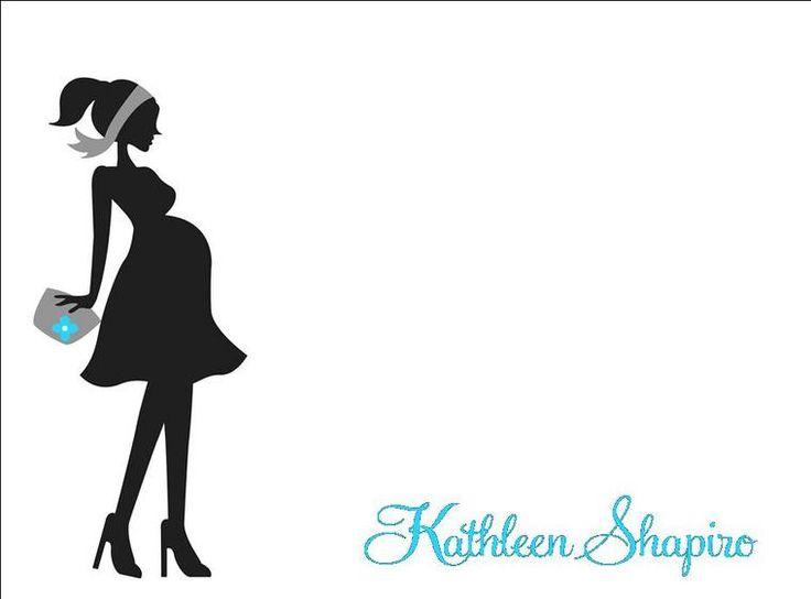 pregnant silhouette .