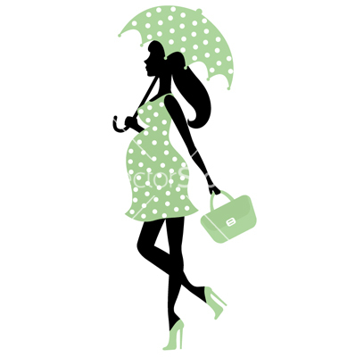 Pregnant Silhouette Umbrella Clip Art Pregnant Silhouette Umbrella