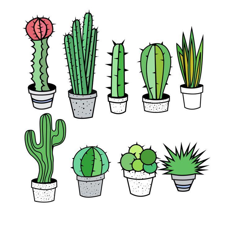 Premium Cactus, Cactus Clip Art, Cacti C-Premium Cactus, Cactus Clip Art, Cacti clipart, Best Cactus clipart, Succulent Clipart, Tribal cactus- Commercial and Personal Use, cactus | Cas, Clip art ...-17
