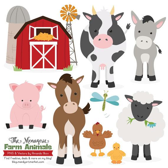 Premium Farm Animals Clip Art u0026amp; Vectors - Farm Animals Clipart, Farm Animal Vectors,