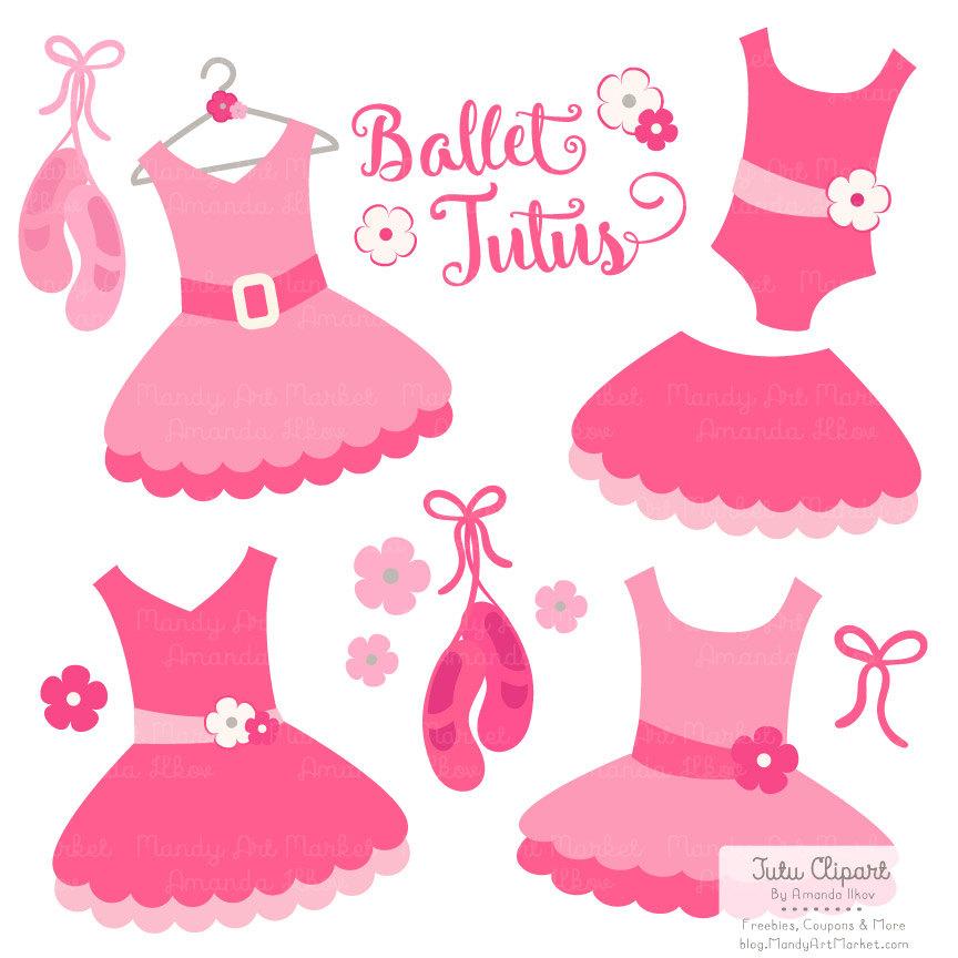 Premium Hot Pink Tutu Clip Art, Pink Dre-Premium Hot Pink Tutu Clip Art, Pink Dress Clip Art for Digital Scrapbooks, Crafts, Invitations - Tutus, Dresses, Ballet Clipart-10