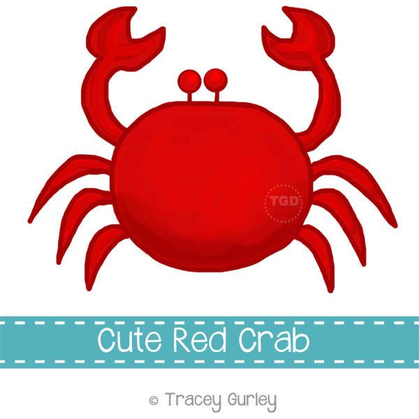 Preppy Red Crab - Original art download,-Preppy Red Crab - Original art download, 2 files, red crab clip art, beach art, crab printable-13