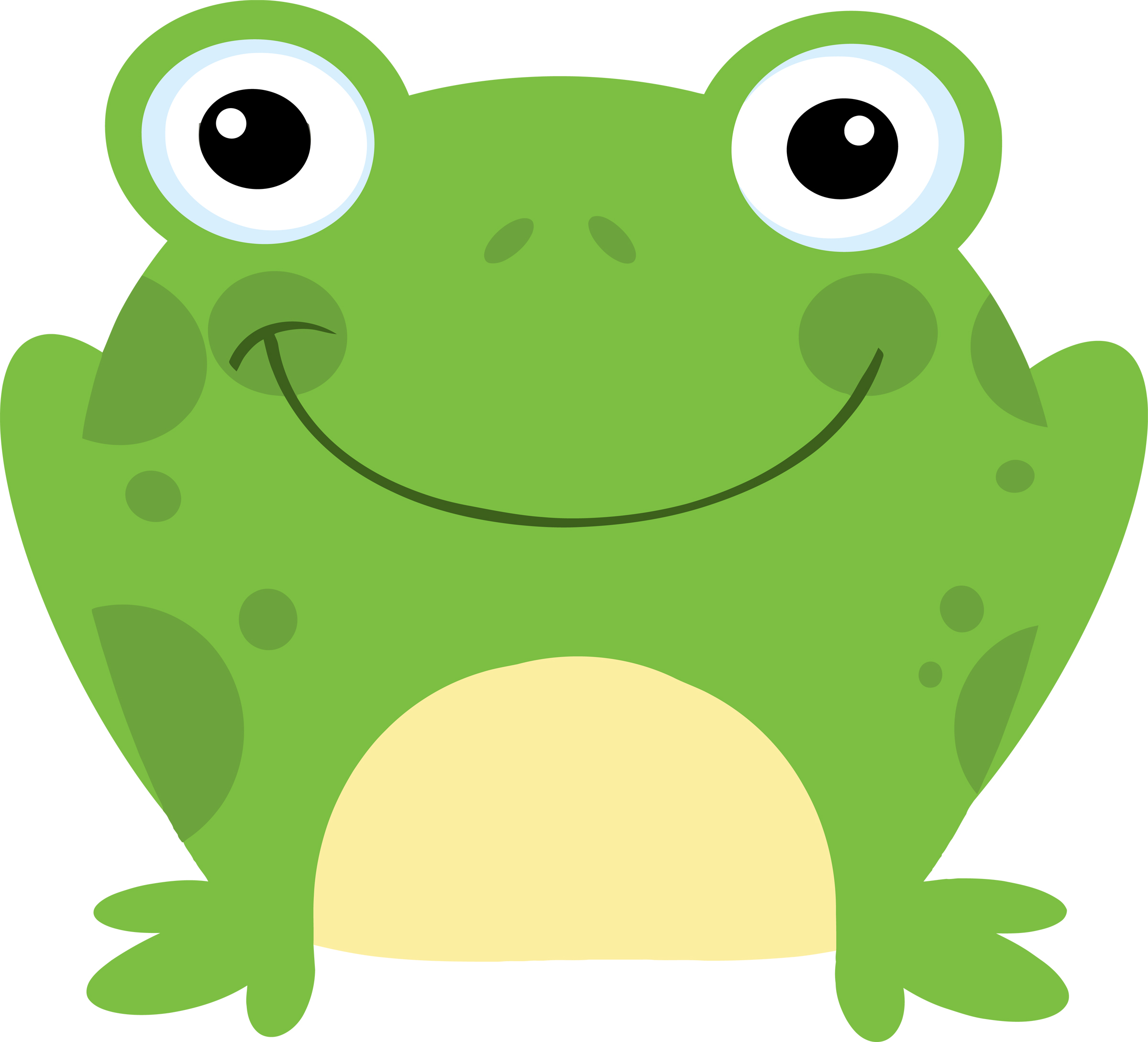 Preschool frog clipart