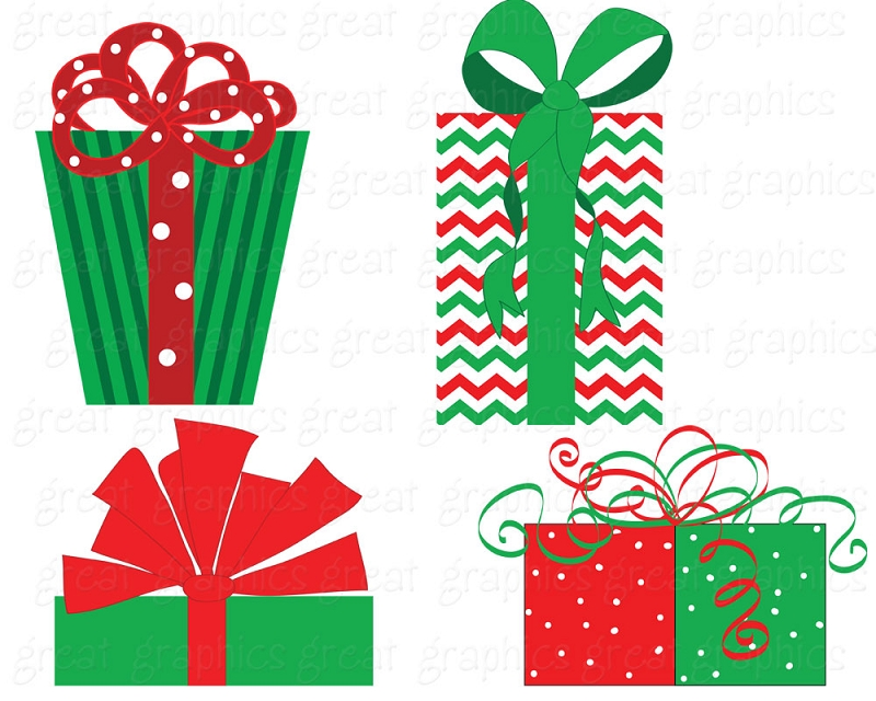 Present clip art for christmas