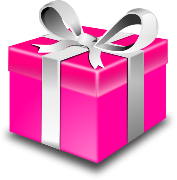 Present Or A Gift Wrapped Box .