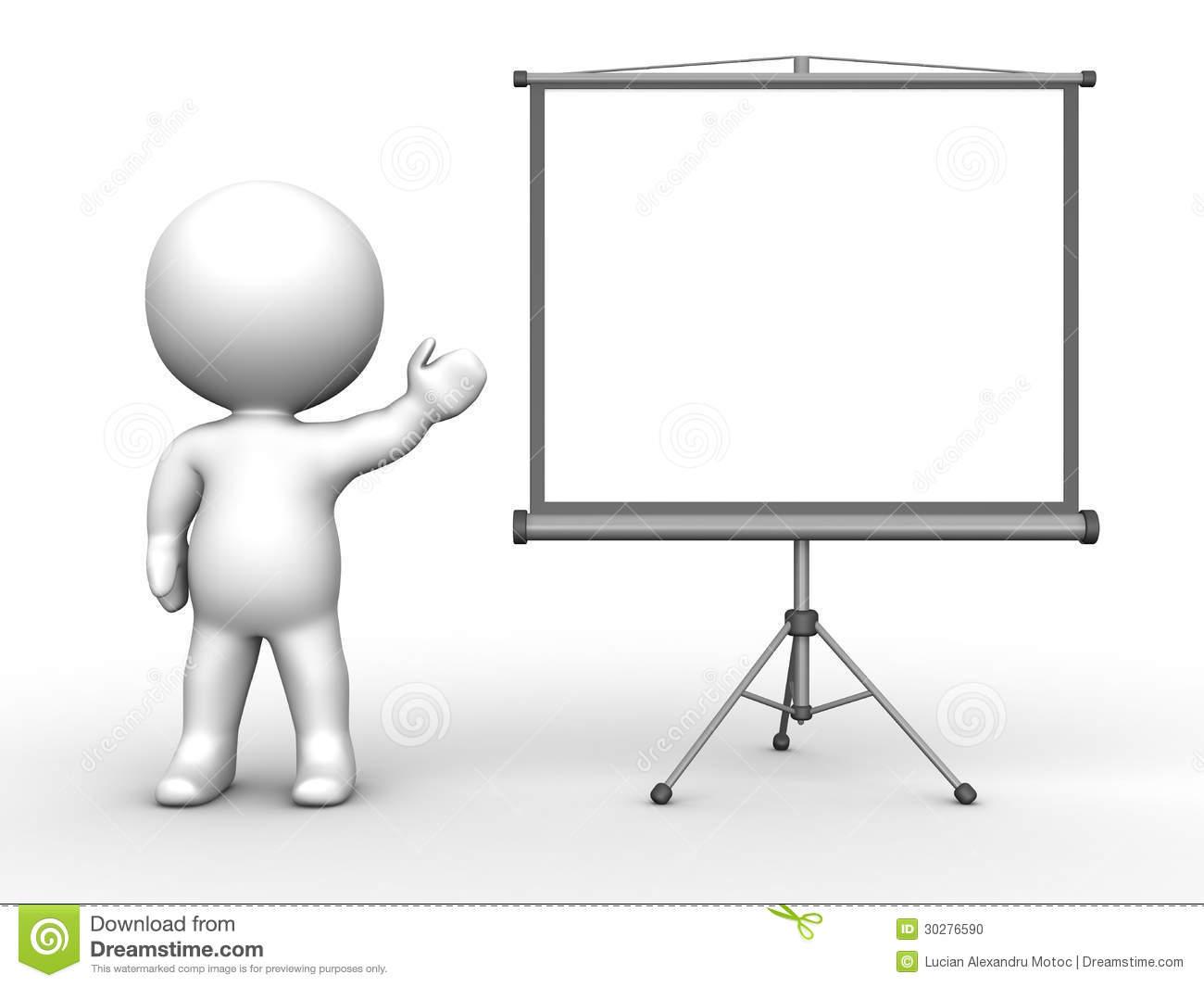 Presentation Man Clipart #1