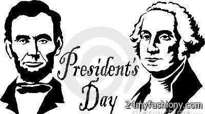 Presidents Day Clip Art Black .
