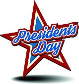 Presidents Day Star - Presidents Day Clipart