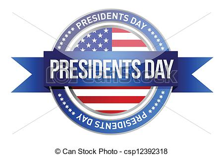 ... presidents day. us seal and banner illustration design